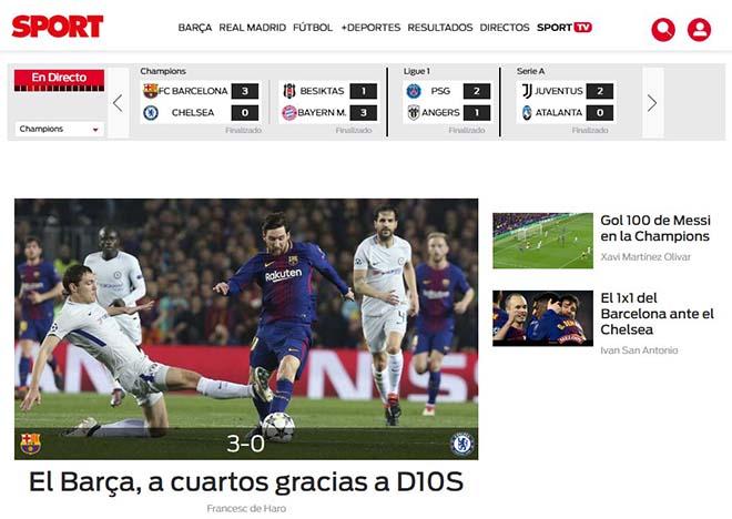 """Barca hạ đẹp Chelsea: Báo Anh """"quy phục"""" Messi, truyền thông thế giới tán thưởng"""