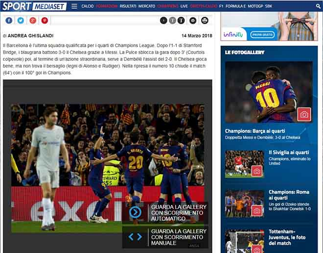 """Barca hạ đẹp Chelsea: Báo Anh """"quy phục"""" Messi, truyền thông thế giới tán thưởng 4"""