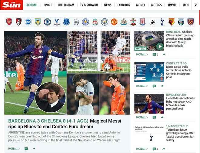 """Barca hạ đẹp Chelsea: Báo Anh """"quy phục"""" Messi, truyền thông thế giới tán thưởng 2"""