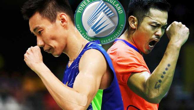 """Cầu lông triệu đô: Lin Dan """"gầm vang"""", Lee Chong Wei """"vụt"""" đối thủ nằm sân 1"""