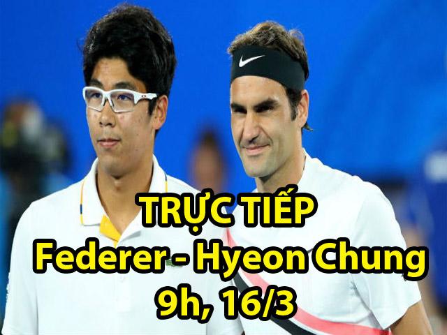 Federer - Hyeon Chung: Sai lầm ván quyết định (Tứ kết Indian Wells) 2