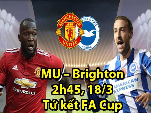 Chi tiết MU – Brighton: Matic lập công, vé bán kết có chủ (KT) 25