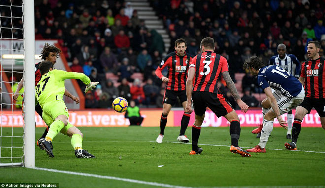 Bournemouth - West Brom: (vòng 31 giải Ngoại hạng Anh)