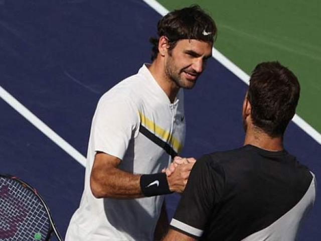 """Tuyệt tác Indian Wells: Federer chém bóng góc """"0 độ"""", Potro chạy """"cắm đầu"""" 1"""