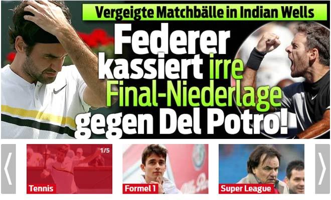 """Federer thua tiếc nuối: Báo chí gọi tên """"khắc tinh"""" Del Potro 2"""