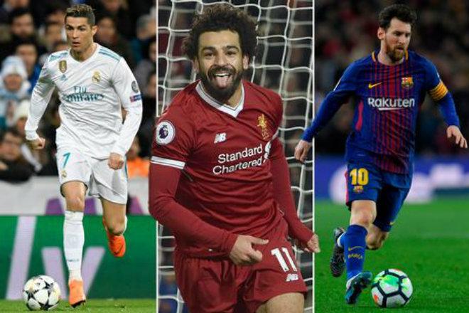 Ronaldo - Salah bùng nổ poker, ghi 8 bàn: Messi vĩ đại bị vượt mặt