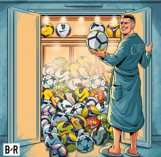 Ronaldo lập poker, cán mốc 50 hat-trick: Nhà vua vĩ đại, hùng bá châu Âu - 3