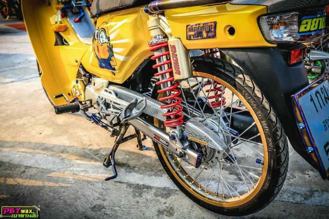 Ngắm Honda Dream độ màu vàng quý tộc rực rỡ - 3