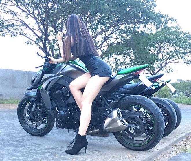 Thời trang của hot girl Cần Thơ khi chạy xe phân khối lớn - 2