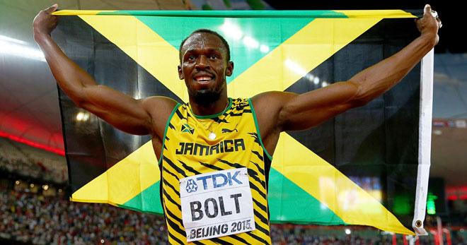 Usain Bolt tập cùng