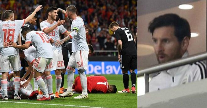 Argentina thua thảm Tây Ban Nha 6 bàn: Messi hổ thẹn cúi mặt bỏ về