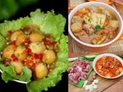 Ẩm thực - Ngon cơm với trứng cút sốt ớt, canh sườn nấu kim chi