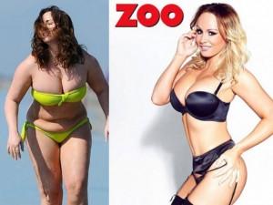 Làm đẹp - Sốc với thân hình mập ú, xồ xề của người mẫu Anh quốc