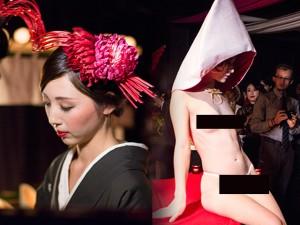 Thời trang - Tất tật về 1 ngày làm việc của mẫu nude trên bàn tiệc