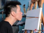 Bạn trẻ - Cuộc sống - Nghị lực 9x dị tật có biệt tài vẽ tranh bằng miệng