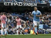Video bóng đá hot - Video đầy đủ trận Man City - Stoke vòng 35 NHA