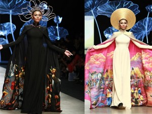 Thời trang - Trương Thị May diện áo dài lộng lẫy làm vedette