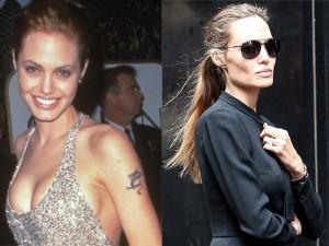 Ngôi sao điện ảnh - Loạt ảnh Angelina Jolie gầy trơ xương vì bệnh biếng ăn