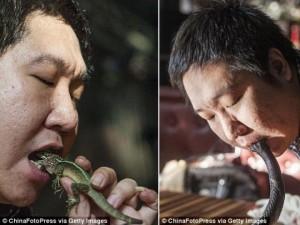 Phi thường - kỳ quặc - Những dị nhân ăn tươi nuốt sống động vật