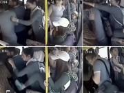 Bạn trẻ - Cuộc sống - Kẻ bệnh hoạn bị phụ nữ đánh hội đồng trên xe buýt