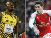 """Bóng đá - SAO Arsenal """"thách đấu"""" tốc độ với Usain Bolt"""