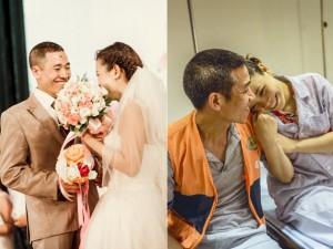 """Bạn trẻ - Cuộc sống - Rơi nước mắt vì """"đám cưới cổ tích"""" của cô dâu bệnh tật"""