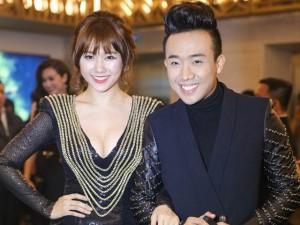 Ca nhạc - MTV - Hari Won táo bạo diện váy xẻ sâu bên Trấn Thành