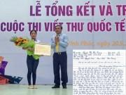 Giáo dục - du học - Bức thư đạt giải Nhất thi Viết thư UPU năm 2016