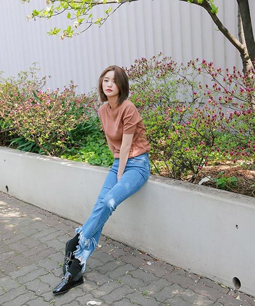 Cách đơn giản chinh phục quần jeans tua rua - 6