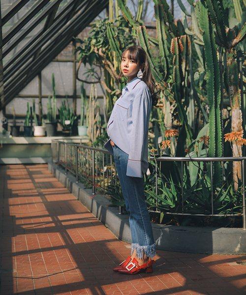 Cách đơn giản chinh phục quần jeans tua rua - 12