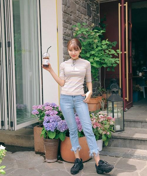 Cách đơn giản chinh phục quần jeans tua rua - 11