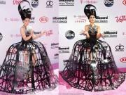 """Thời trang - Váy như """"nơm úp cá"""" trên thảm đỏ Billboard Awards 2016"""
