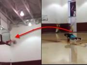 Thể thao - Khó tin: Chống đẩy, ném bóng trúng rổ