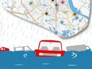 Tin tức trong ngày - [Infographic] 16 điểm ngập sâu khi mưa lớn ở Hà Nội