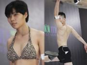 Thời trang - HN: Chàng trai gây chú ý với màn mặc đồ bơi nhảy múa