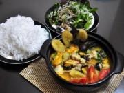 Ẩm thực - Cuối tuần ngon miệng với ốc nấu chuối đậu thơm nức