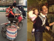 Bạn trẻ - Cuộc sống - Hình ảnh cha địu con nhặt rác khiến dân mạng thổn thức