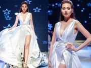 Thời trang - Thanh Hằng diện váy làm từ 25m vải đi catwalk