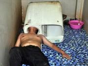 """Phi thường - kỳ quặc - Thanh niên Trung Quốc bị máy giặt """"nuốt"""" đầu"""