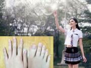 """Bạn trẻ - Cuộc sống - Nữ sinh nổi tiếng vì """"ngón chân dài như ngón tay"""""""