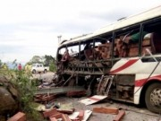 Video An ninh - Nổ tung xe khách ở Lào, 8 người Việt tử vong tại chỗ