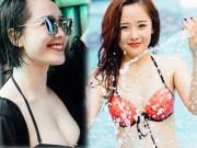 """Thời trang - Thiếu nữ nóng bỏng """"thiêu đốt' tiệc bể bơi ở Hà Nội"""