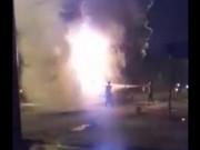 Video An ninh - Clip: Xe khách bốc cháy ngùn ngụt, 34 người thoát chết