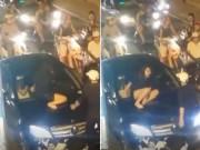 Bạn trẻ - Cuộc sống - Đánh ghen, cô gái leo lên xe Mercedes đập vỡ kính