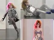 Thời trang - 3 người mẫu luống cuống như gà mắc tóc trên sàn diễn