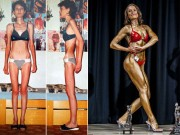Bạn trẻ - Cuộc sống - Nữ vô địch Gym từng giảm xuống 32kg vì bị chê béo