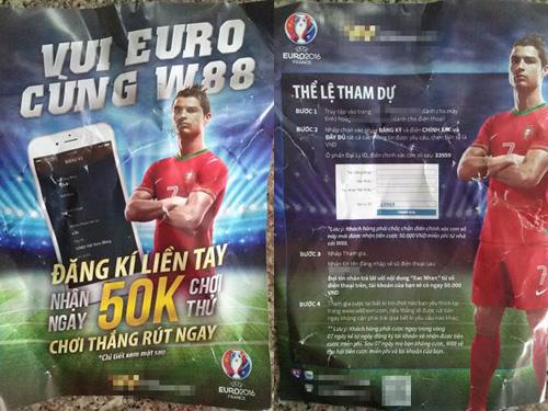 Cần Thơ: Phát tờ rơi mời chào… cá độ bóng đá Euro 2016