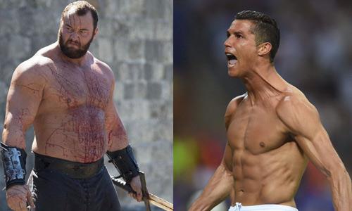 """""""Thần Thor"""" hả hê vì yểm bùa được Ronaldo"""