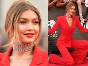 Thời trang - Gigi Hadid mặc áo khoét sâu, quần xẻ tà trên thảm đỏ