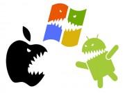 Công nghệ thông tin - Thị phần Android, iOS và Windows di động giờ ra sao?